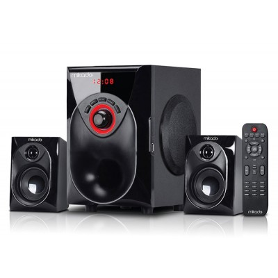 Mikado MD-206BT Siyah 2+1 USB+SD+FM+REMOTE CONTROL Speaker Bluetooth